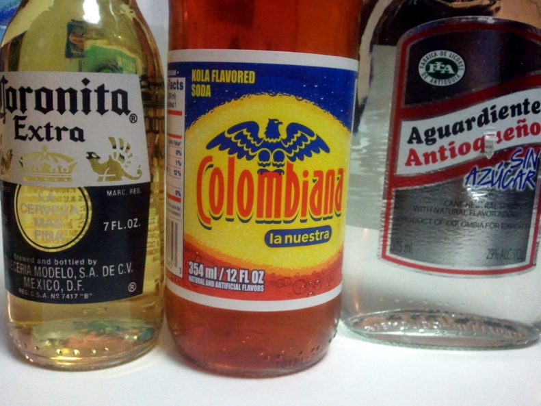 Refajo--Colombiana, beer and aguardiente