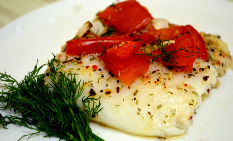 Herb and Sun Dried Tomato Baked Basa Filet