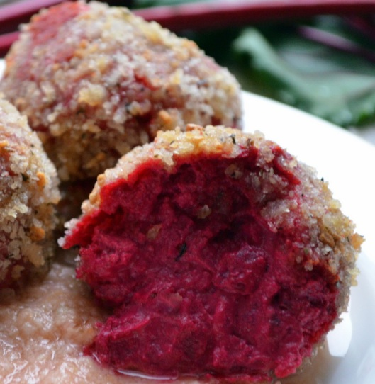 Goat Cheese and Beet Croquetas