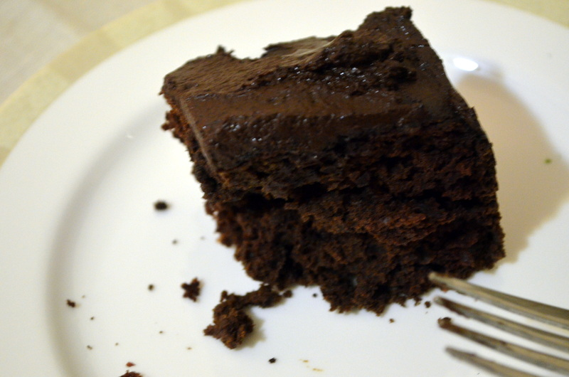 Adapted from super easy super moist chocolate brownie recipe from