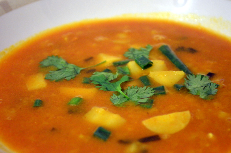 Coconut Red Lentil Split-Pea Soup adapted from and inspired by Heidi ...