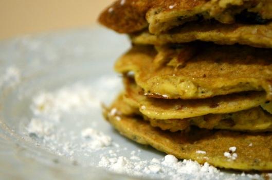 Whole Wheat Matzoh Meal Pancakes www.sercocinera.wordpress.com