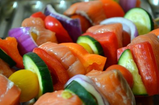 Salmon Kebabs www.sercocinera.wordpress.com