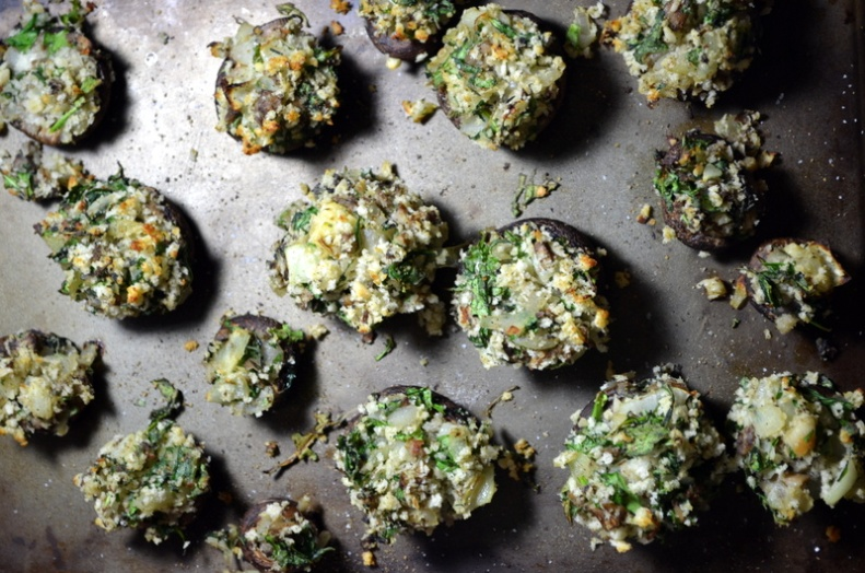 Florentine Stuffed Mushrooms