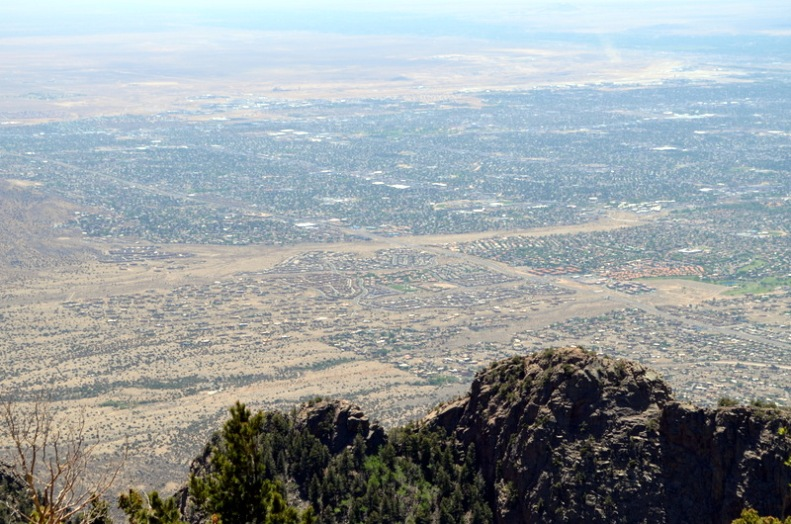 From the top of the Sandia Mountains