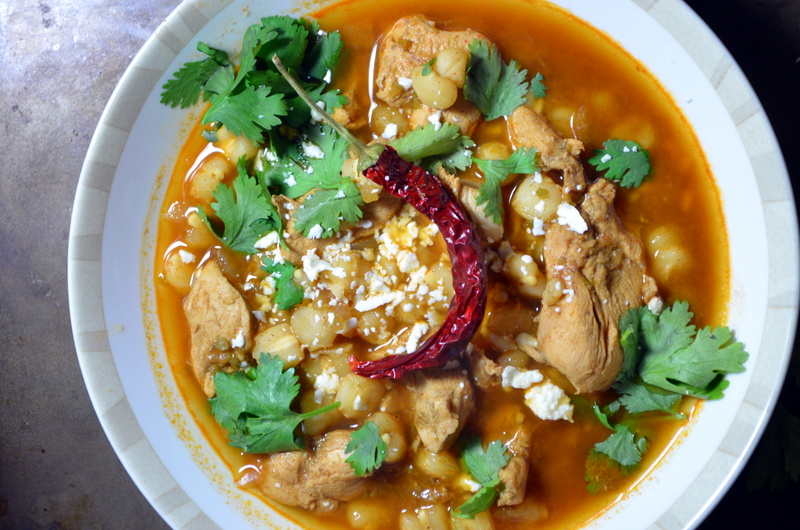 PozoleSpicy Mexican Chicken  Hominy Whats Cooking