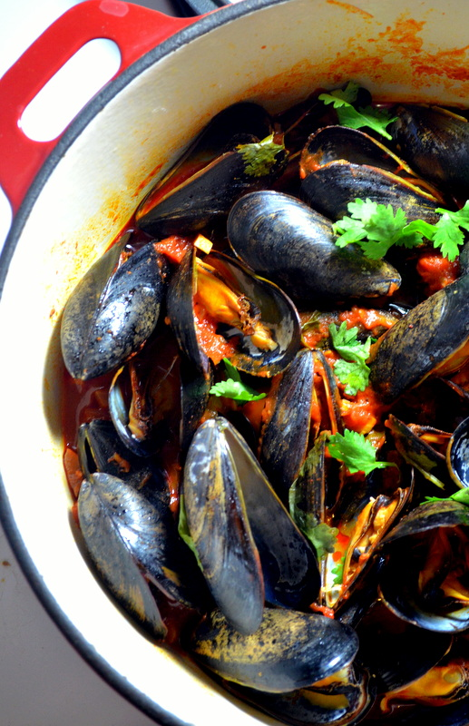 Spicy Mussels and Chorizo