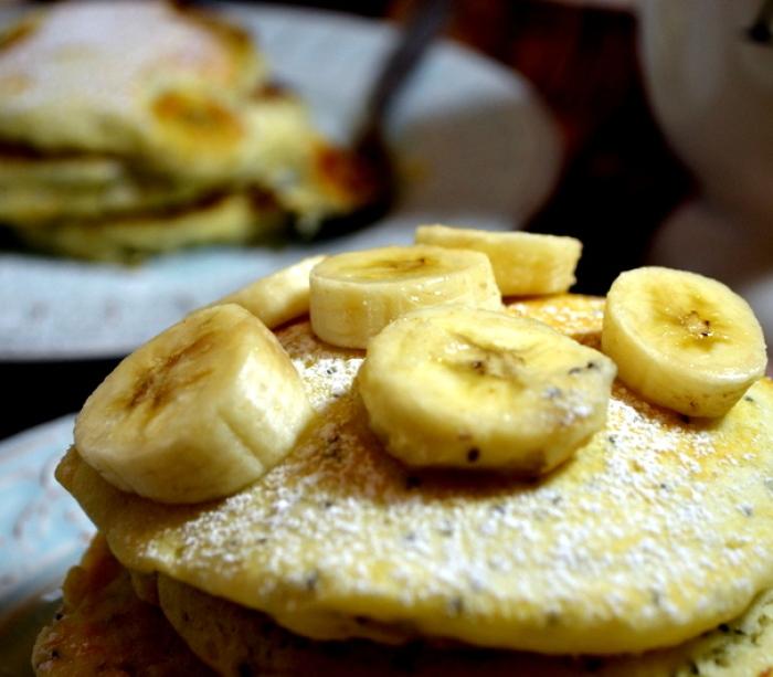 Banana Chia Pancakes
