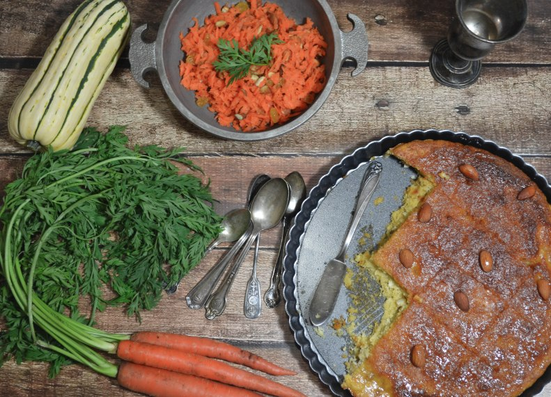 carrot salad and cake1 (1 of 1)