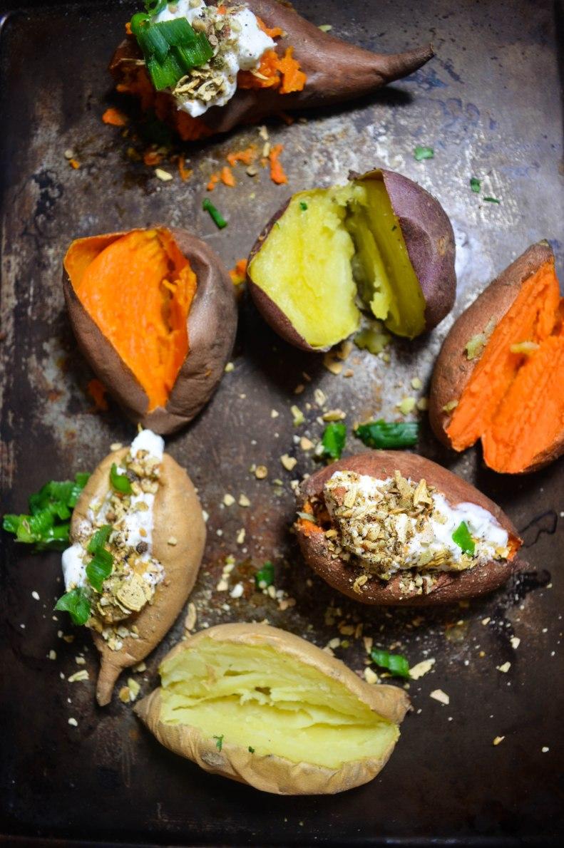 sweet potatoes with yogurt and dukkah (1 of 1)